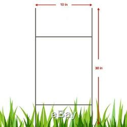 100 Double H Wire Step Stakes 10x30 in Yard Sign Stands FREE SHIPPING