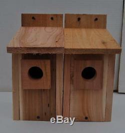 10 WESTERN BLUEBIRD BIRD HOUSES NEST. HOLE SIZE 1 9/16. Free shipping handmade