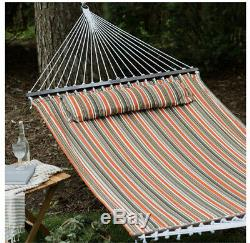 13 ft Outdoor Porch Patio Quiled Hammock Bronze Steel Stand. Free Shipping