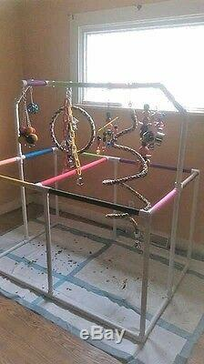 1 PVC Macaw \ Parrot Play Stand 5'x3'- Huge FLOOR PERCH FREE SHIPPING