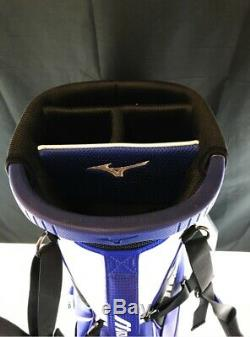 2018 Mizuno Pro Stand Bag Staff Blue Color 122894-op Free Ship