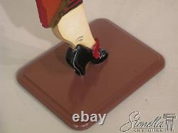 20994 Hand Paint Decorated Standing Butler W Burl Walnut Tray FREE SHIPPING