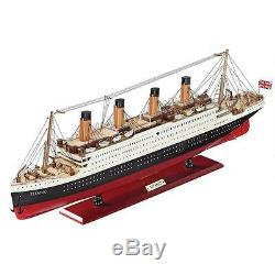 31.5 Scaled Museum Replica Collectible Titanic Model Cruise Ship with Stand