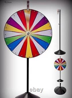 36 Color Dry Erase Professional Spinning Prize Wheel Floor Stand Free shipping