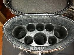 3x5 Pool Cue Case with Stand Black Black / Dark Brown FREE Shipping