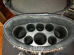 3x5 Pool Cue Case with Stand Black Black / Light Brown FREE Shipping