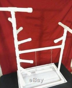 42 Tall 1 PVC Macaw Perch \ Stand \ Swing \ Play Gym w Pan FREE SHIPPING