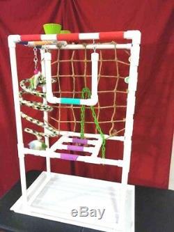 42 Tall Versa-Gym 3/4 Perch \ Stand \ Play Gym\ Swing w\PAN FREE SHIPPING