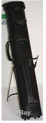 4x8 Black Pool Cue Case with Wheels/Stand & FREE Shipping