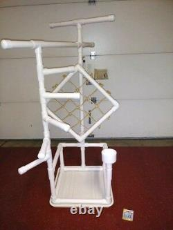 54 Tall Climber 1 PVC Macaw Perch \ Stand \ Play Gym FREE SHIPPING