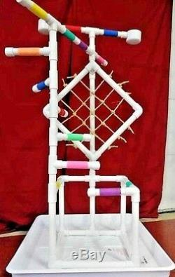 54 Tall Climber 1 PVC Macaw Perch \ Stand \ Play Gym w Pan FREE SHIPPING