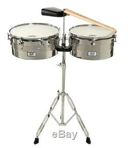 AM Percussion Libre 13 14 Timbale Kit with Stand and Cowbell FREE SHIPPING