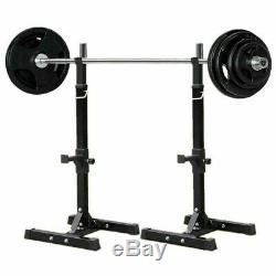 Adjustable Steel Squat Stand Barbell Rack (FAST SHIPPING!)