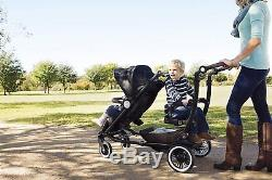 Austlen Entourage Double Stroller in Black With Sit + Stand Seat! Free Shipping
