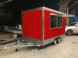 BN 9.8ft 3mx1.8m Concession Stand Food Trailer Mobile Kitchen Shipped By Sea