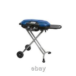 Blue Propane Grill Coleman Roadtrip Xcursion Portable Stand Up Free Shipping