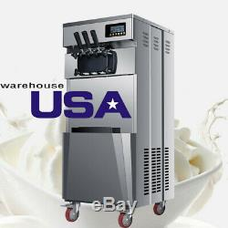 Brand New 110V Floor standing commercial soft ice cream machine for sale-US Ship
