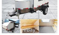 Brand New 3.5MX1.68M Concession Stand Trailer House For 3 People Shipped By Sea