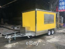 Brand New 4MX2M Concession Stand Trailer Kitchen +Sandwich Pre Table Ship By Sea