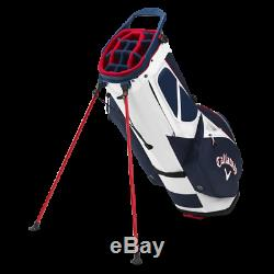 Brand New Callaway Fairway 14 Way Stand Bag Navy Red Flag FREE SHIP
