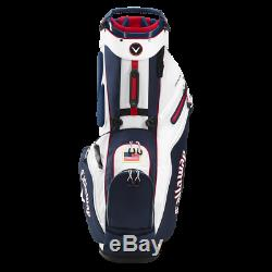 Brand New Callaway Fairway 14 Way Stand Bag Navy/Red/Flag FREE SHIP