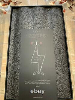 Brand New Empty Tesla Tequila Bottle With Stand & Box In Hand & Ready To Ship