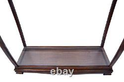 Brown Tall Ship Model Display Case Wooden Medium 34 Table Top Cabinet Stand New