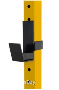 CAP Barbell PowerRack Exercise Stand Squat Rack PullUpBar Yellow FREE SHIP