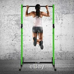 CAP Barbell Power Rack Exercise Stand Squat Rack PullUp Bar Green SHIPS NOW
