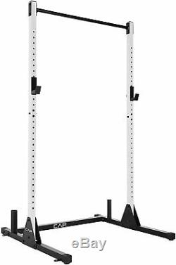 CAP Barbell Power Rack Exercise Stand WHITE FREE SHIPPING