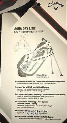Callaway Aqua Dry Lite Golf Stand Bag Rare NEW! Waterproof Epic Clubs Free Ship