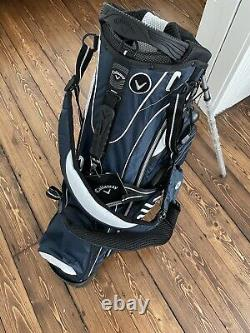 Callaway Stand Golf Bag 6-Way with Rain Cover Blue New Old Stock! Free Shipping