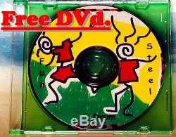 Calypso Steel Drum, Sticks, Stand, Play-along DVD & Song Booklet Free Shipping