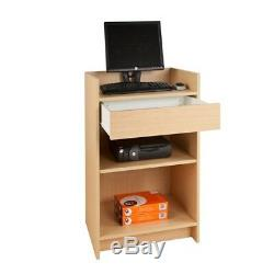 Cash Register Stand Store POS Checkout Sales Counter Ships Knockdown Maple NEW