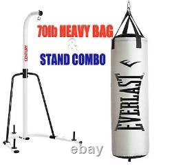Century Heavy Bag Stand and Everlast 70lb PLATINUM NevaTear Heavy Bag Ships Free