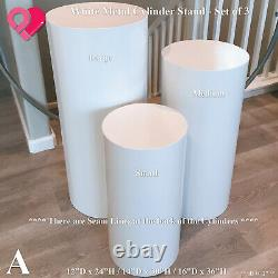 Circle Cylinder Backdrop Pedestal Stand Display Riser Plinth Wedding Party 36
