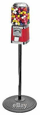 Classic Gumball/Candy Vending Machine on Iron Pipe Stand Free Shipping