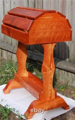 Classic Wooden Saddle Stand / Traditional Cherry Stain / FREE SHIPPING