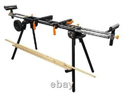 Collapsible Rolling Miter Saw Stand with 3 Onboard Outlets Free Shipping