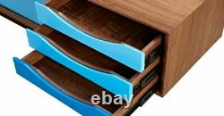 Color Theory Media Cabinet TV Stand Mid Century Modern 71 Free shipping in USA
