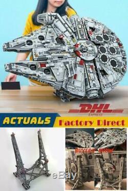 DHL SHIP 8445 Pcs+ Stand Millennium Falcon (75192) Star wars building blocks