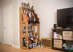 DRS Racks AB14 2019 Bamboo Guitar Stand 14 Guitars Stacked Free Shipping