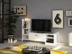 Decorotika Rosemary 62 TV stand & Entertainment Center White Free Shipping