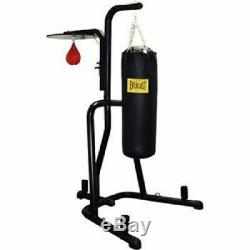 EVERLAST DUAL STATION Heavy Punching Bag Boxing Stand MMA FAST SHIP NEW