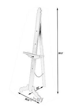 Easels Adjustable Floor Standing Display Easel Vintage Oak Free Shipping