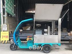 Electric Tricycle Churros Coffee Concession Stand Trailer Kitchen Shipped By Sea