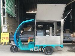Electric Tricycle Snow Cone Machine Concession Stand Trailer Shipped By Sea