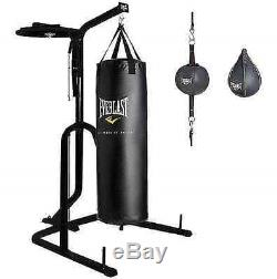Everlast Dual Station Heavy Punching Bag Boxing Stand MMA FAST SHIP NEW! 5.0 ave