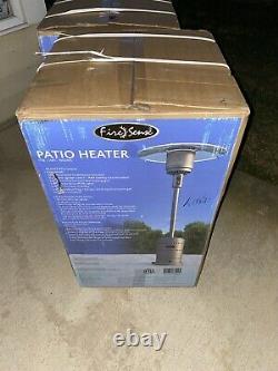 FREE FEDEX OVERNIGHT SHIPPING Fire Sense Patio Heater 46,000 BTU Gray