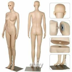 Female Mannequin Plastic Full Body Display Head Turn withBase Women 176CM US SHIP